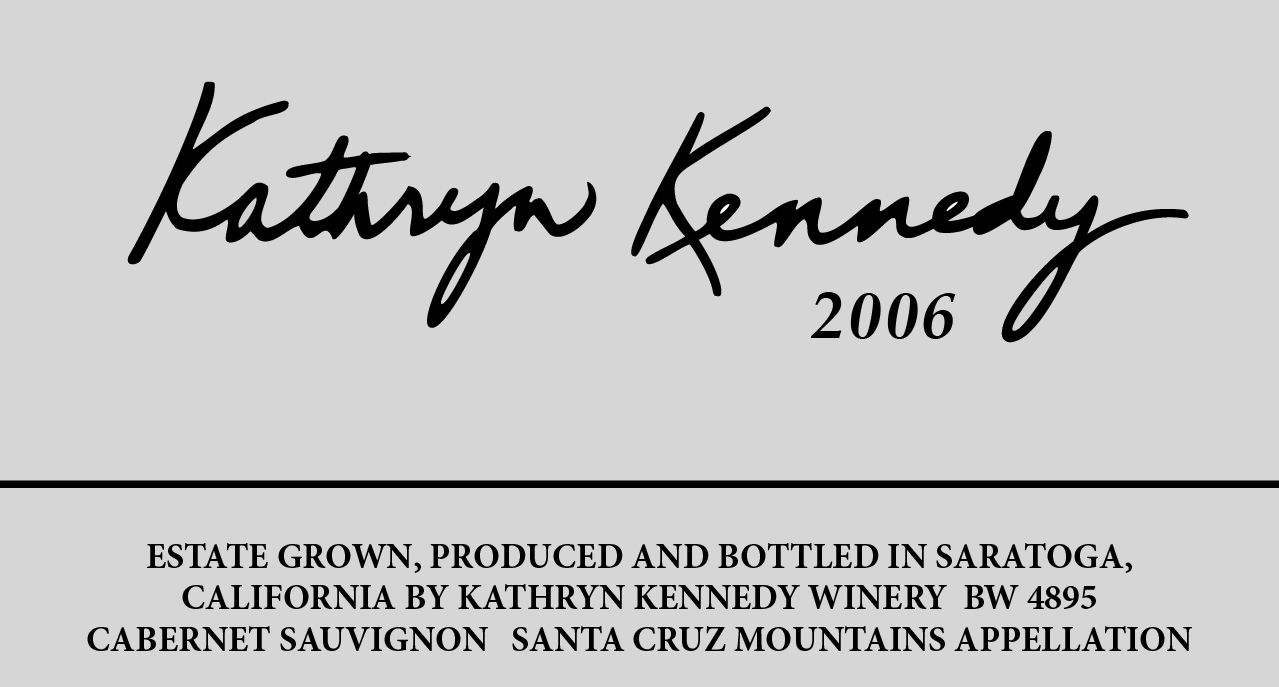 Image of 2006 E label for public printing Kathryn Kennedy Winery
