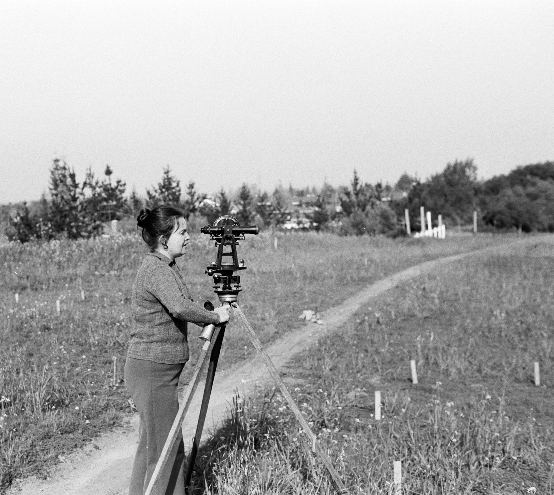 Image of Kathryn Kennedy plotting vineyard positions
